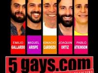 5 GAYS.COM DESPEDIDA DE SOLTERO - SÁBADOS 23 HRS